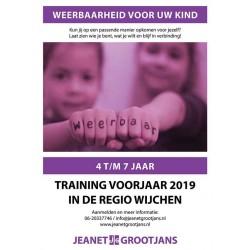 Training Weerbaarheid 4 t/m 7 jaar - voorjaar 2019 Regio Wijchen