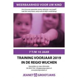 Training Weerbaarheid 7 t/m 10 jaar - voorjaar 2019 Regio Wijchen