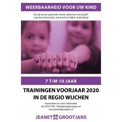 Training Weerbaarheid 7 t/m 10 jaar - Voorjaar 2020 - Regio Wijchen